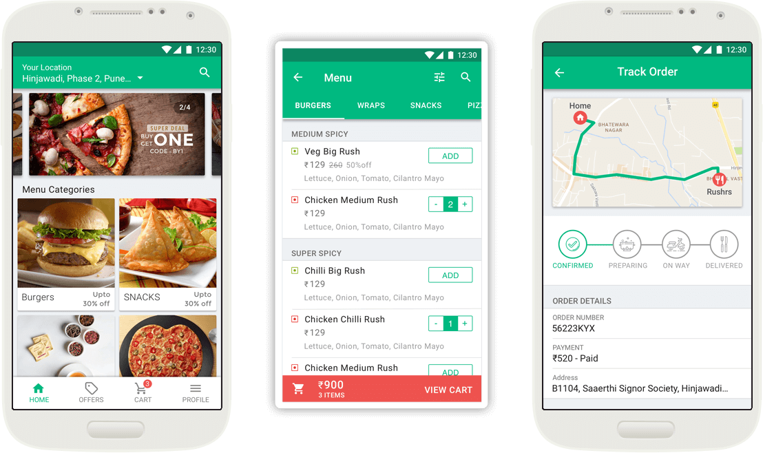 Food order tracking system